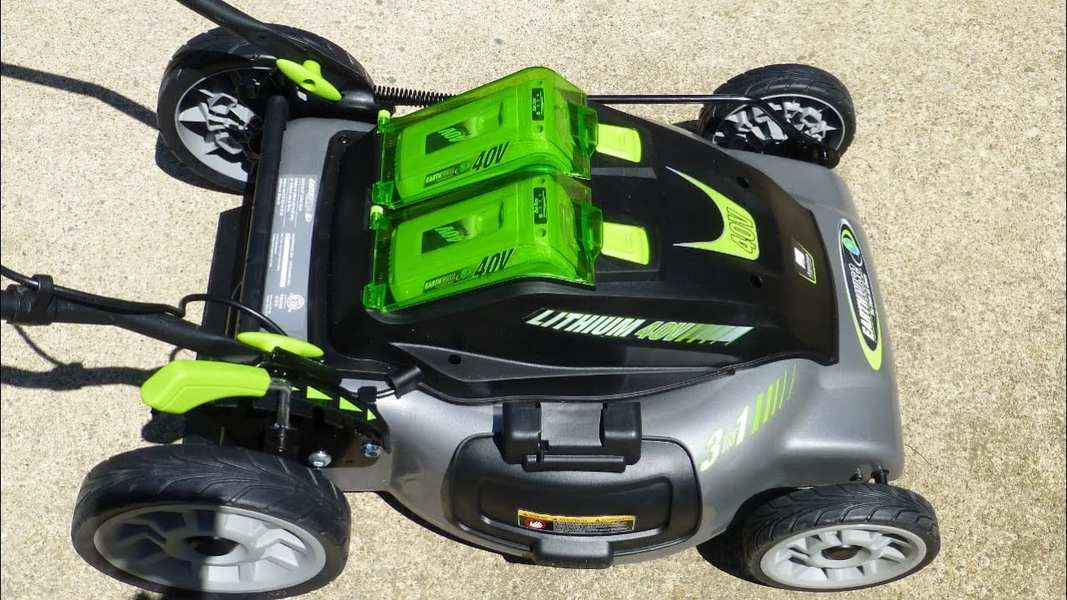 Batteries on an electric lawn mower how long do they last