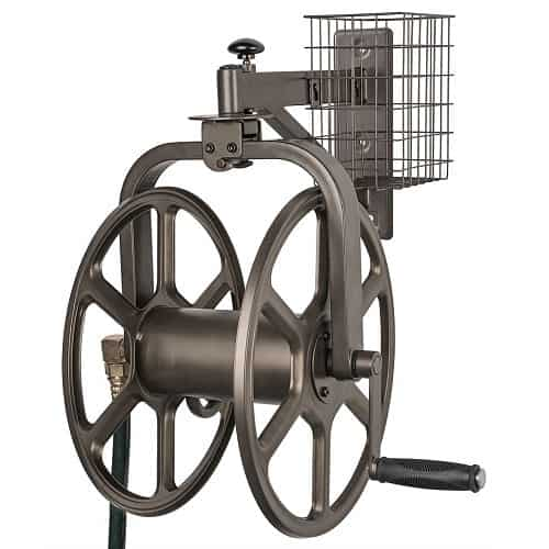 Liberty Garden Hose Reel 19 in 13-Gauge Rubber Bumpers Powder Coated Steel